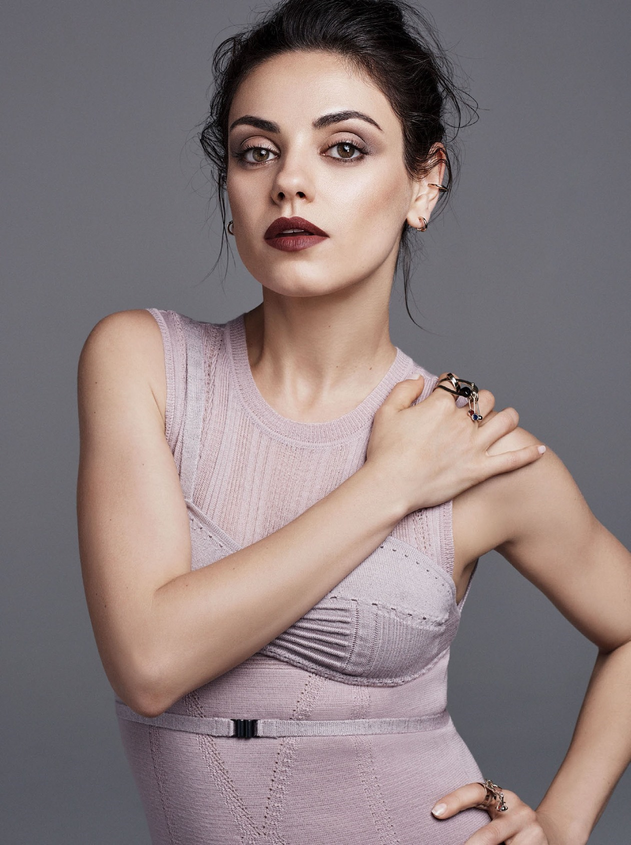 glamour magazine mila kunis by steven pan image amplified. Black Bedroom Furniture Sets. Home Design Ideas